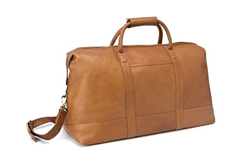 Le Donne Vaqueta Classic Duffel Bag, Leather Travel Bag in Tan