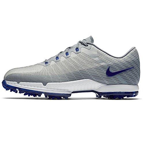 Smooth Tour Golf Shoe - Nike Men's Air Zoom Attack FW Golf Shoes (Medium) (12 M, Metallic Silver/Deep Night/White)