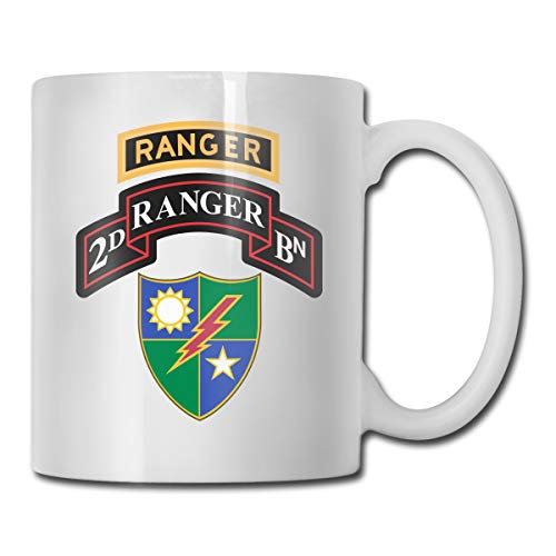 2nd Battalion 75th Ranger Regiment Mug Ceramic with Large C-Handle Coffee Mug Cup