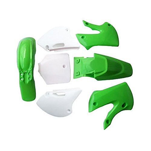 ZXTDR Motorcycle Dirt Bike Body Plastic Fender For SSR Coolster BBR Various Colors (4 green&3 white) -