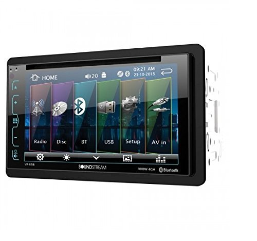 Soundstream VR-65B Double-DIN Bluetooth DVD/CD/AM/FM in-Dash Car Stereo with 6.2in Smart Sense Screen (Renewed) reviews