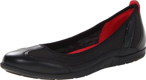 Price comparison product image ECCO Women's Bluma Ballerina Flat,Black,40 EU/9-9.5 M US