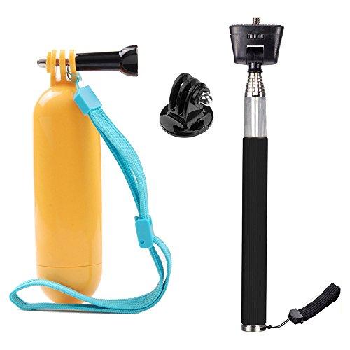 TEKCAM Action Camera Selfie Stick Floating Handle Grip Compa