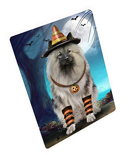 Doggie of the Day Happy Halloween Trick or Treat Keeshond Dog Candy Corn Magnet MAG61620 (Mini 3.5