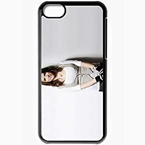 Personalized iPhone 5C Cell phone Case/Cover Skin Anna Kendrick Pictures Celebrities Black