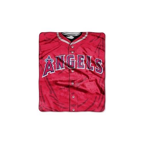 MLB Los Angeles Angels Jersey Plush Raschel Throw, 50