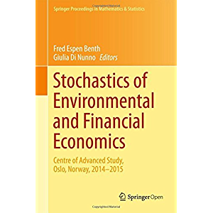 Stochastics of Environmental and Financial Economics: Centre of Advanced Study, Oslo, Norway, 2014-2015 (Springer…