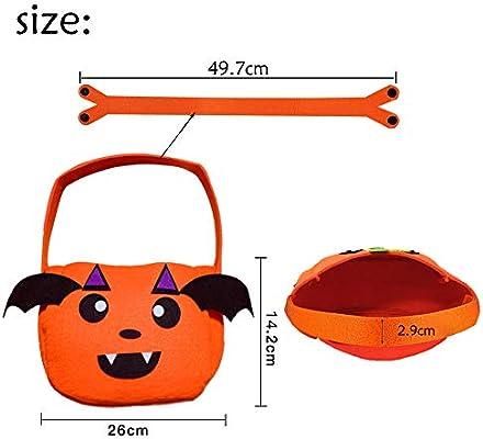 Coooolla Bolsas de asas de Halloween Dulces de Comestibles Reutilizables Bolsas de Asas Trick or Treat Bolsos de Decoración de Favor de ...