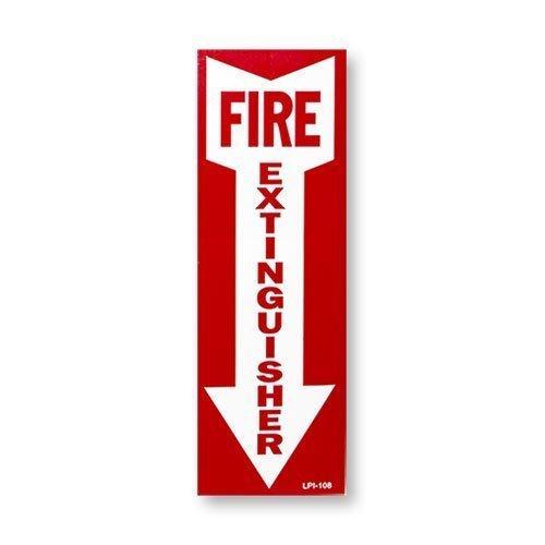 2.5 Gallon Water Pressure Fire Extinguisher, Strike First with Wall Bracket and Inspection Tag and Sign by Water (Image #4)
