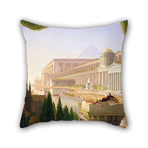 Pillow Cases 18 X 18 Inches / 45 By 45 Cm(each Side) Nice Choice For Dance Room Festival Girls Outdoor Family Shop Oil Painting Thomas Cole - Architect???s Dream (Architect Denim)