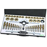 Tap and Die Set 45 Piece METRIC Titanium Nitride Coated Alloy Steel with Storage Case by Pittsburgh