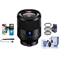 Sony Planar T FE 50mm F1.4 ZA Lens - Bundle With 72mm Filter Kit, Cleaning Kit, Lens Wrap (19x19), Lenscap Leash, Software Package