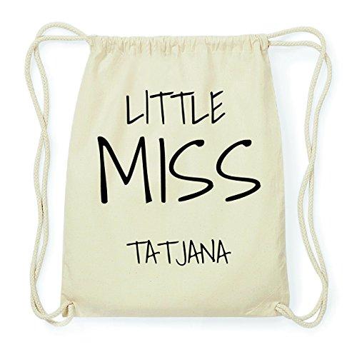 JOllify TATJANA Hipster Turnbeutel Tasche Rucksack aus Baumwolle - Farbe: natur Design: Little Miss
