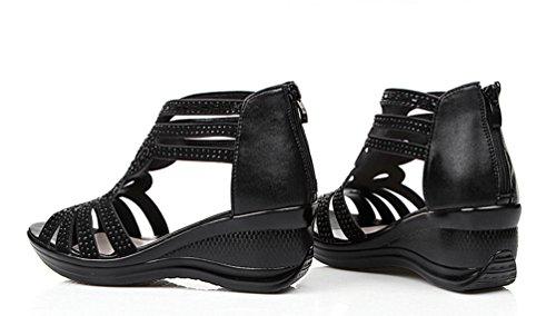 La Nago - Sandalias mujer negro