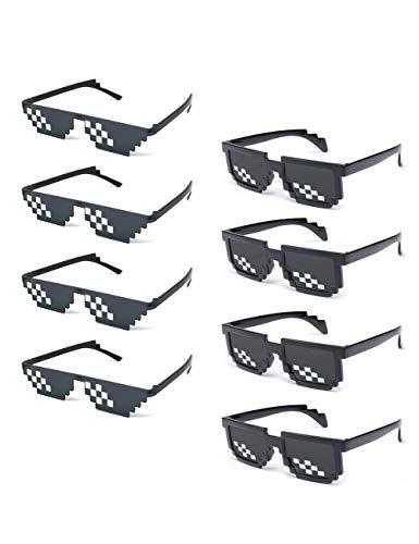Onnea fashion 8 Pack Thug Life Pixelated Mosaic Party Favors Unisex Sunglasses (8-Pack Mix)