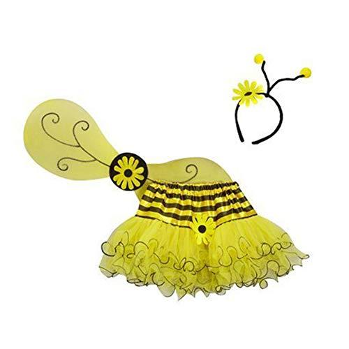 Making Believe Girls Bumble Bee Yellow Tutu, Wing & Headband Costume -