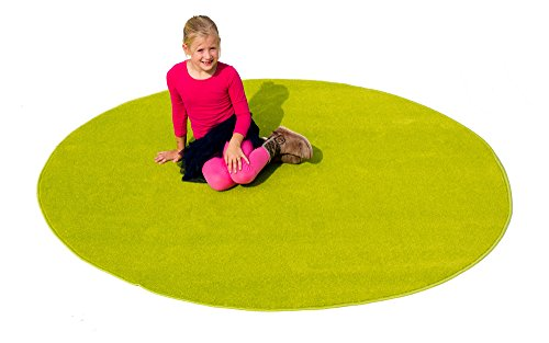 Learning Carpets Solid Green - Learning Carpets CPR469 - Solid Green Oval