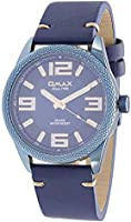 Omax fashion watch for men with blue band & blue dial