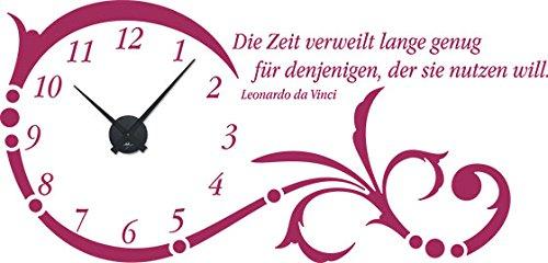 GRAZDesign Wanduhr groß Aufkleber Ornament mit Spruch - Wandtattoo Uhr mit Uhrwerk Die Zeit verweilt Lange genug - Uhren Wand Tattoo mit großen Zahlen   119x57cm   800331_GD_080 B07CQTN7XN Wandtattoos & Wandbilder