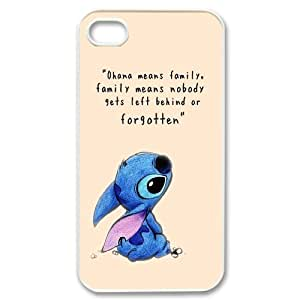 Chaap And High Quality Phone Case For Iphone 4 4S case cover -Stitch - Ohana Means Family-LiShuangD Store Case 12