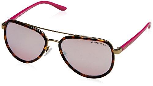Michael Kors Women's Aviator Sunglasses, Tortoise Gold Fuschia/Pink, One - Sunglasses Kors Michael Tortoise