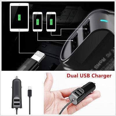 FidgetFidget Cargador Dual USB Auto 5.5A rápido Cargador de ...