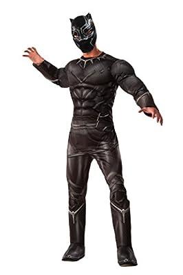 Marvel Civil War Captain America Black Panther Costume Deluxe Adult Mens Std-XL