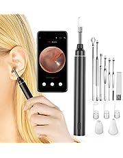 VITCOCO Otoskop WiFi öronvax borttagning verktyg med kamera, trådlöst USB-öra rengöring endoskop med 6 LED-lampor, 720P HD öronoskopinspektion för iOS och Android, Windows PC och Mac