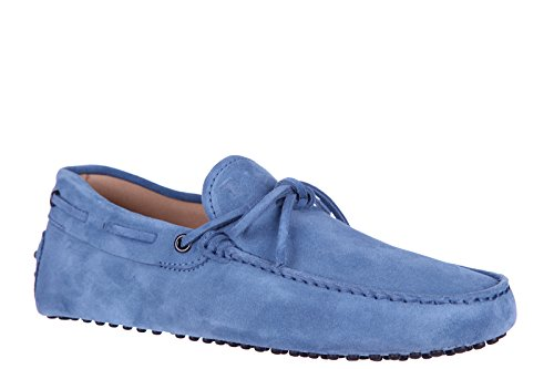 cbeb58ac939 good Tod s men s suede loafers moccasins laccetto gommini 122 blu ...