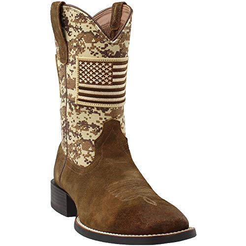 Ariat Men's Sport Patriot Western Boot Wide Square Toe Brown 16 D