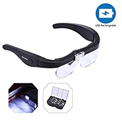 YOCTOSUN Rechargeable Head Magnifier Gla...