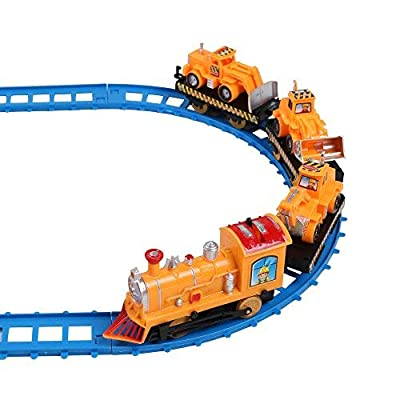 Vangoddy Toy Car Battery Operated Railway Train Track Play Set Transportation14pcs: Toys & Games