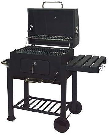 LMM Extérieur Durable Barbecue & Burger gaz/Charbon Grill Combo Comes avec Un réchauffement Chromé Rack