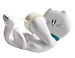 Scotch Kitty Dispenser with Scotch Magic Tape , 3/4 x 350 Inches, 1 Roll, 1 Dispenser (C39-KITTY-W))