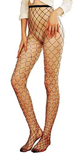 Shecret Fishnet Stockings High Waist Tights Women's Stockings Pantyhose Black Onesize