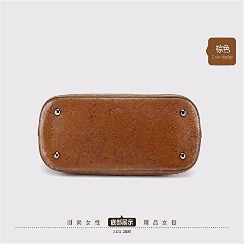Brown GAOQIANGFENG Bolsa Black Verano en cucharon IwgqZ0