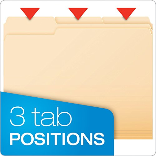 Large Product Image of Pendaflex Essentials File Folders, Letter Size, 1/3 Cut, Manila, 250 per Box (752250)