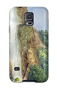 JudyRM Premium Protective Hard Case For Galaxy S5- Nice Design - Bay Near The Waterfall Animated