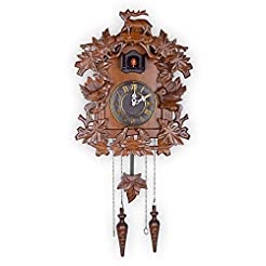 Kendal Large Handcrafted Wood Cuckoo Clo...