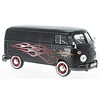 VW T1, matt-schwarz/Dekor, 0, Modellauto, Fertigmodell, Motormax 1:24