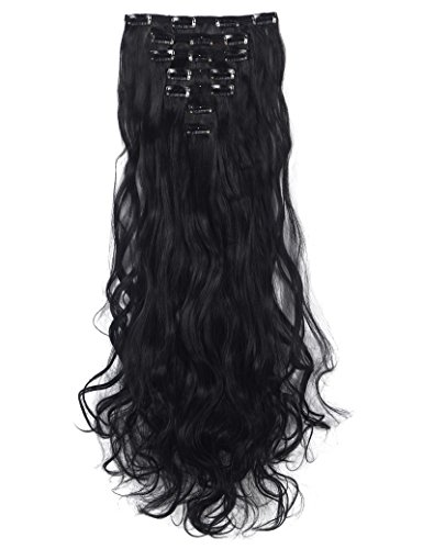 - 3-5 Days Delivery 7Pcs 16 Clips 24 Inch Wavy Curly Clip in on Double Weft Hair Extensions
