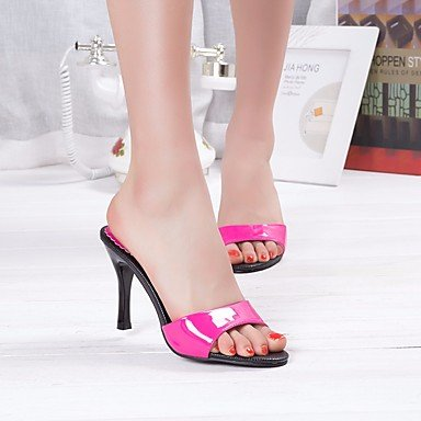 CN37 Heels Fuchsia 5 7 UK4 White US6 5 5 EU37 Club Women'S Spring Pu Black Shoes Casual RTRY 50TAwn