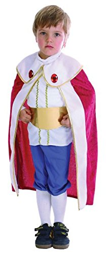 [Toddlers King Costume With Red Cape] (King Toddler Costume)