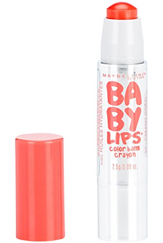 Maybelline New York Baby Lips Color Balm Crayon, Creamy Coral, 0.09 Ounce