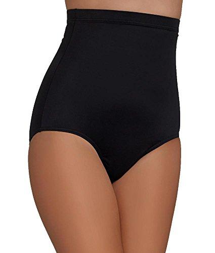 Magicsuit Jersey High-Waist Swim Brief, 16, Black