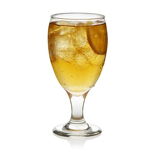 Libbey Classic Goblet Party Glasses, Set of 12 -