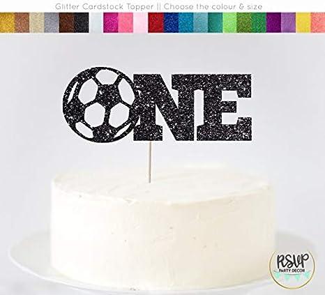 Decoración para tarta de fútbol, primer cumpleaños, fútbol ...