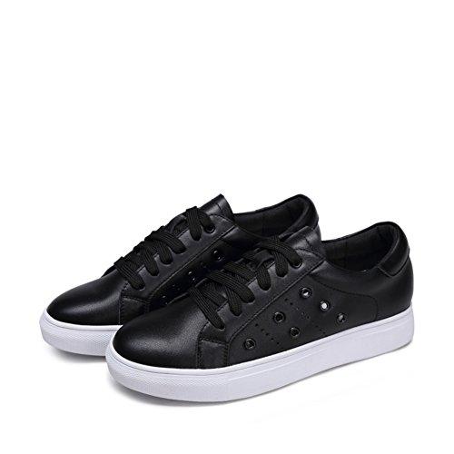Zapatos ocasionales de las mujeres/Zapatillas de suela gruesa/Fondo plano zapatos/Zapatos del tablero B