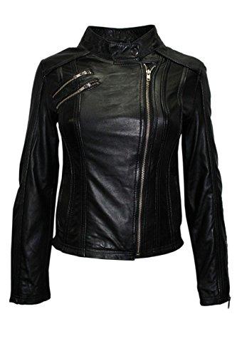 Biker En Italienne Cuir Black Soft New Moto Veste 2623 Style Napa wpvAnxqTg