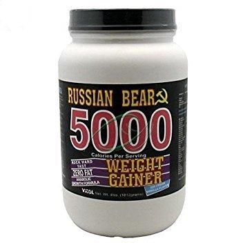 Vitol Russian Bear 5000 Cal Vanilla 4lb (Russian Weight Gainer Bear 5000)